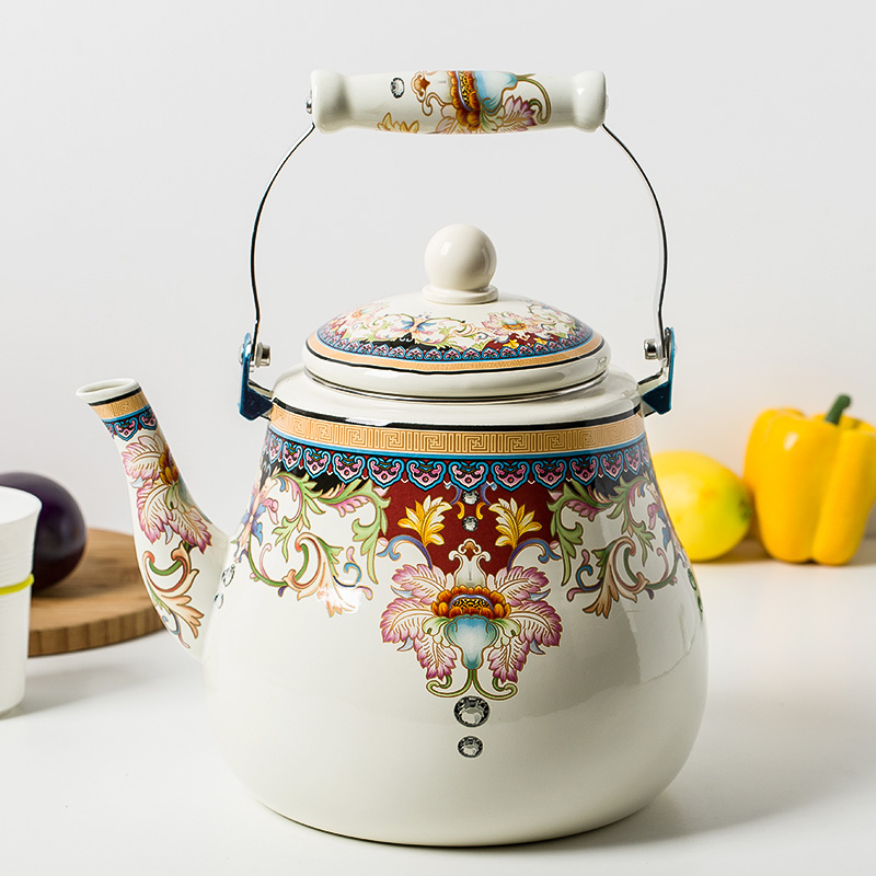 Special offer 5L enamel kettle pot thickened teapot teapot jug Chinese medicine pot electromagnetic furnace gas pot shipping цена