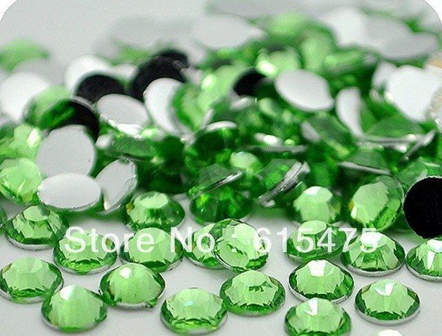 2mm Verde Cor SS6 strass Resina cristal flatback, Frete Grátis 100,000 pçs/saco
