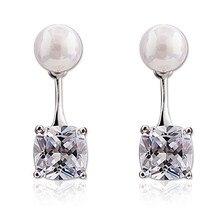 NEHZY 925 sterling silver biżuteria kobieta New fashion błyszczące kryształowe kolczyki wiszące perły kolczyki wyrażające uroczy temperament bogini