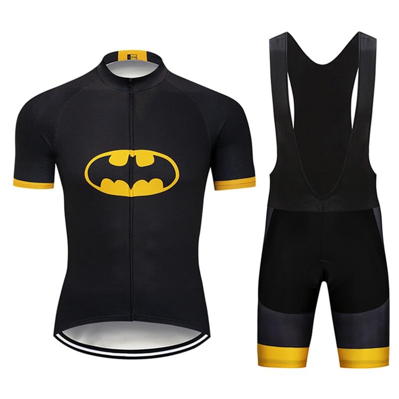 Crossrider 2018 batman Cycling Pro Jerseys Set Mtb Uniform Mountain bike Clothing Bicycle wear clothes Men Short Maillot Culotte