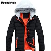 Mountainskin 2017 мужская Зимняя Куртка С Капюшоном Случайные Толстые Теплые Одежда Твердые Мягкие Тепловые Парки мода Пальто SA110