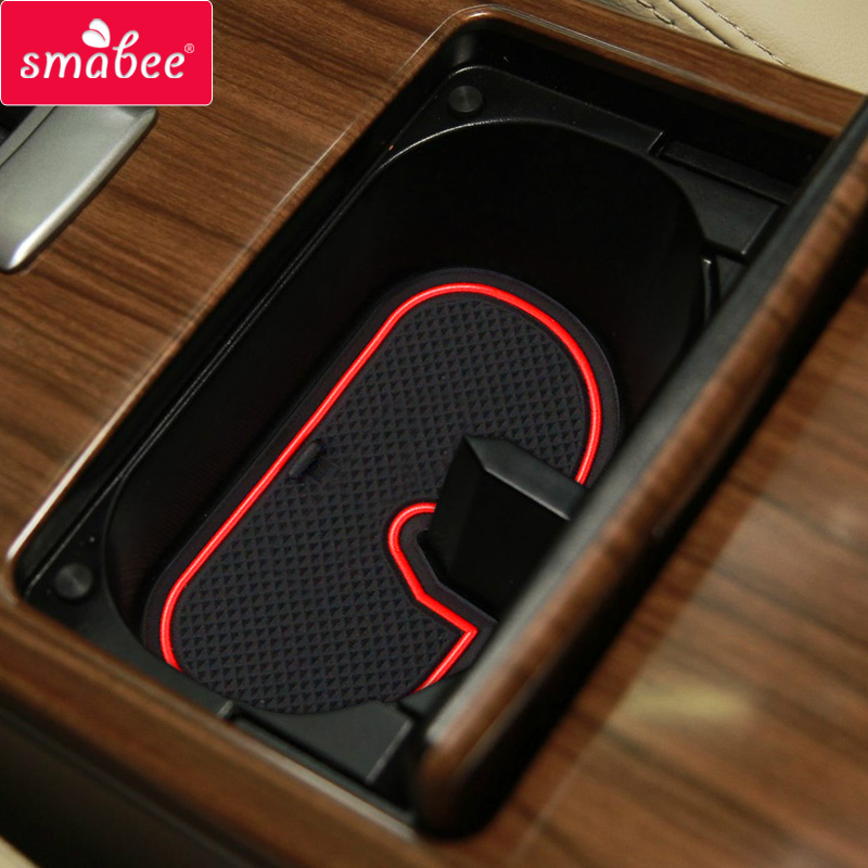 smabee Gate slot pad For NISSAN TEANA 2009-2012 Accessories,3D Rubber Car Mat red/blue/white 9PCS