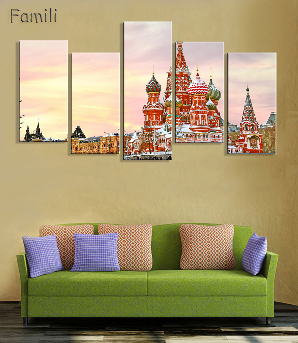 5Pcs Living room home wall modern art decoration fabric poster St ...