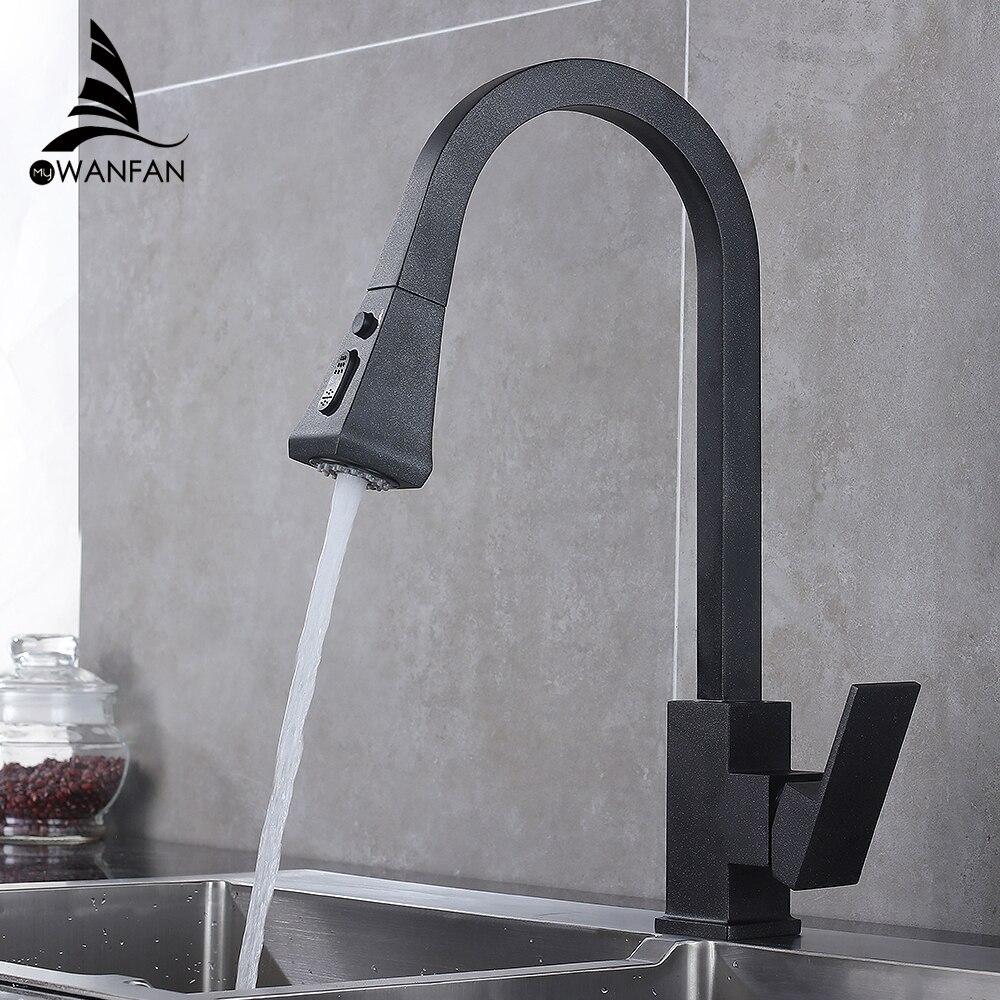Robinets de cuisine argent poignée unique retirer le robinet de cuisine poignée monotrou pivotant 360 degrés mélangeur d'eau robinet mitigeur 866399R
