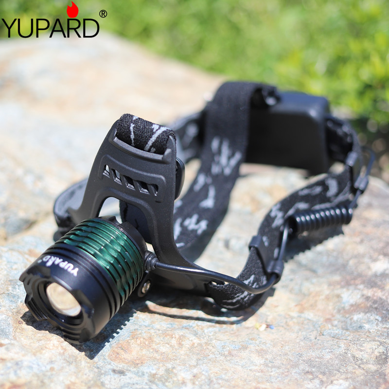 Купить с кэшбэком yupard Zoom Headlamp XM-L2 T6 LED LED zoomable  bright Torch light camping fishing outdoor headlight 18650 battery rechargeable