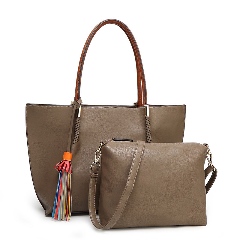 ФОТО Women leather handbags 2017 Designer big size Composite bag high quality shoulder bag famous brand totes female black women bag