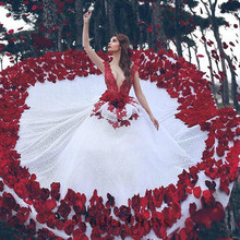 kejiadian Red White Wedding Dresses with Dresses for Gowns