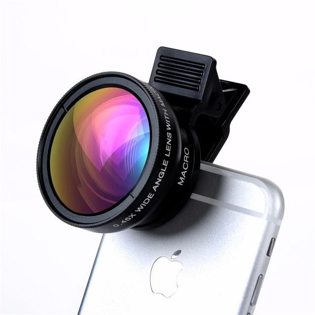 2in1 HD Cámara Del Teléfono 12.5X Lente GRAN Angular Macro Lentes de Clips para doogee x5 x6 max elephone s7 gooweel nexus 5 gionee m6