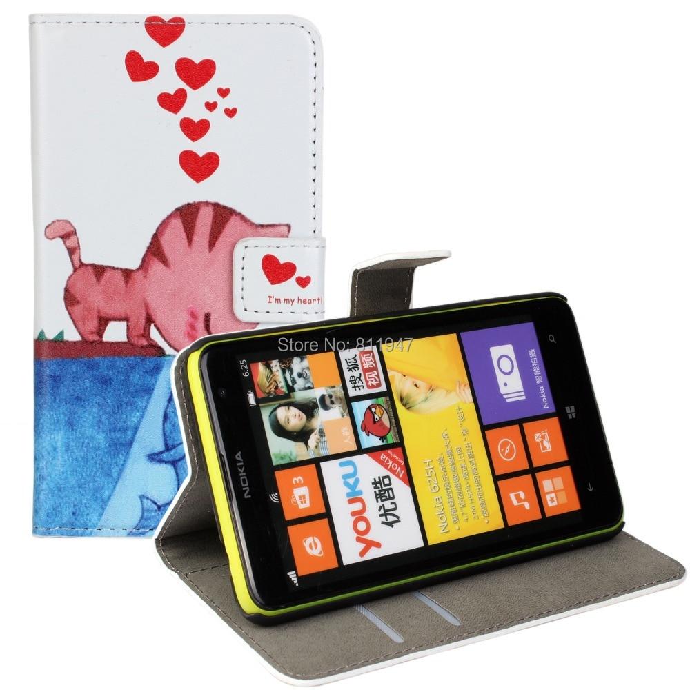 Funda cartera de cuero para nokia lumia 625 mobile phone bag fundas teléfono acc