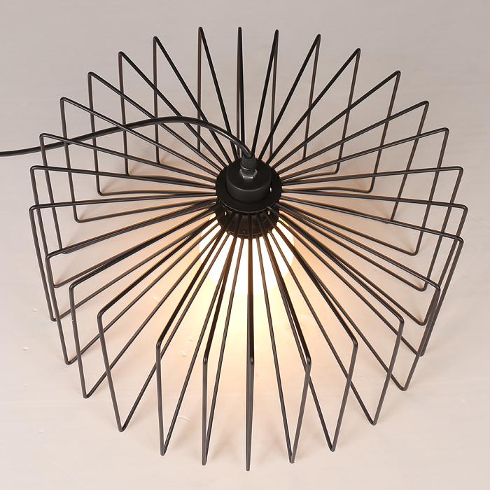 modern pendant light iron cage diy nordic loft american industrial