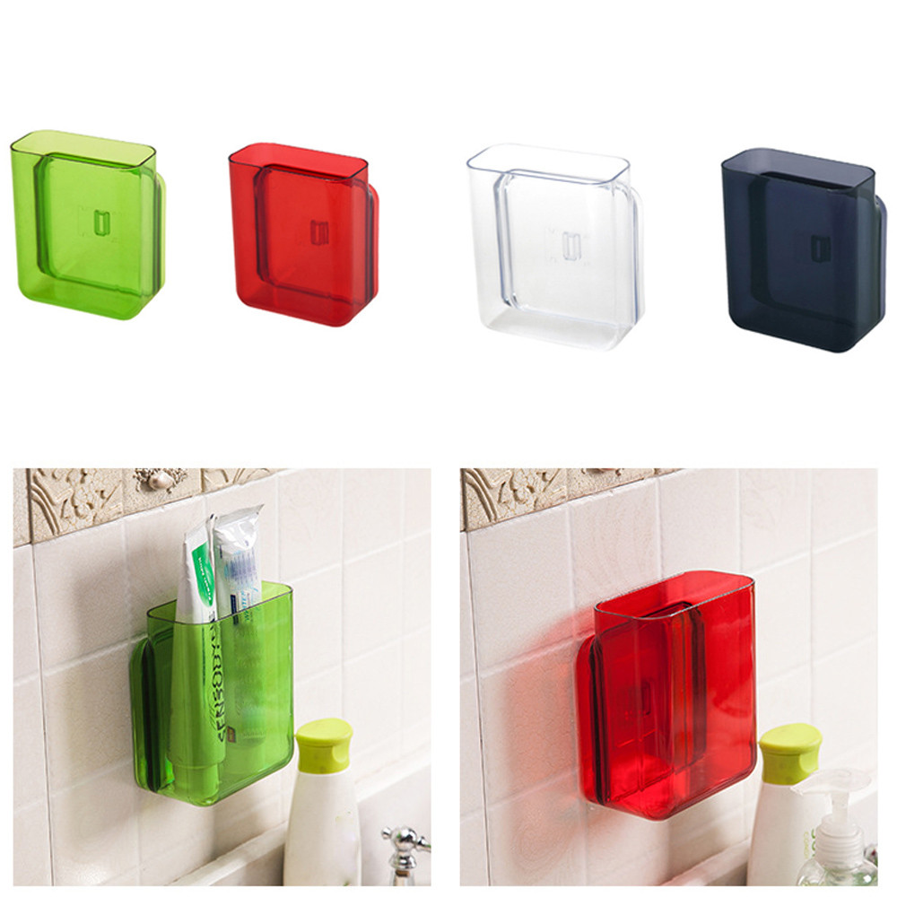 New S 4.5*12*10 cm Plastic Universal Air Conditioner Remote Control Holder Wall-Mounted Support Storage Box Plastic Box@T20