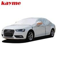 Kayme Aluminum Half Car Cover Waterproof Car Sun Umbrella Sun Protection Universal Covers Sunshade Windscreen Protectors