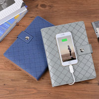 6000 MAh Portable Source Notebook PU Leather Writing Pad Business Notebook Comapny Novel Gifts Meno Customized