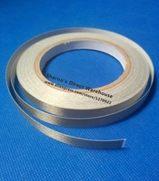 25mm 20M Single Side Adhesive Silver Conductive Fabric Cloth Tape For PC Phone LCD Cable EMI