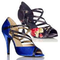 Hot Selling Colorful Satin Women S Classical Heel High Heels Latin Dance Shoes Dance Legend Salsa