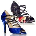 Hot-venda!!! colorido de cetim calcanhar clássico das mulheres sapatos de salto alto sapatos de dança latina sapatos de dança salsa dance legend xc-6322