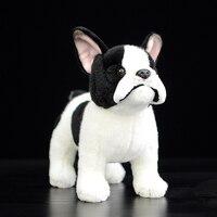23cm Standing Version Lifelike Bulldog Plush Toys Extra Soft Dog Dolls Simulation Animal Stuffed Toys For Kids