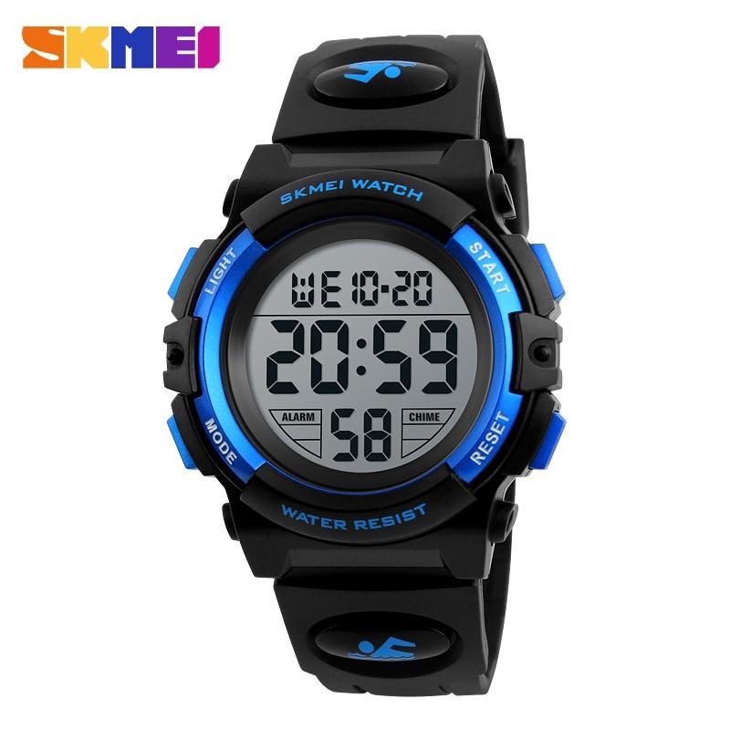 SKMEI Brand Kids Watches Children's Watches For Boy Girls LED Digital Watch Multifunctional Waterproof Wrist Watch Montre Enfant