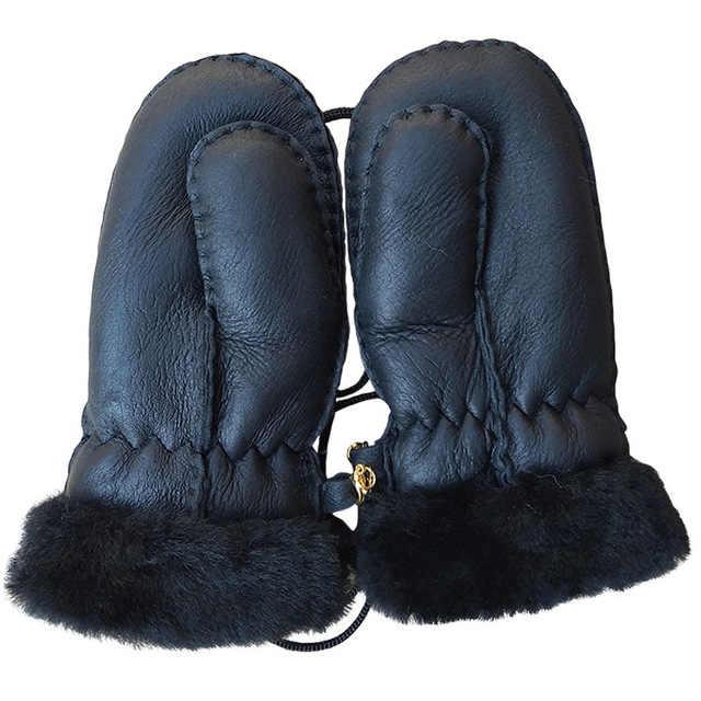 Новое поступление зимние для маленьких мальчиков девочек перчатки овчины Теплые канатные Полный Finger Варежки перчатки для детей Дети