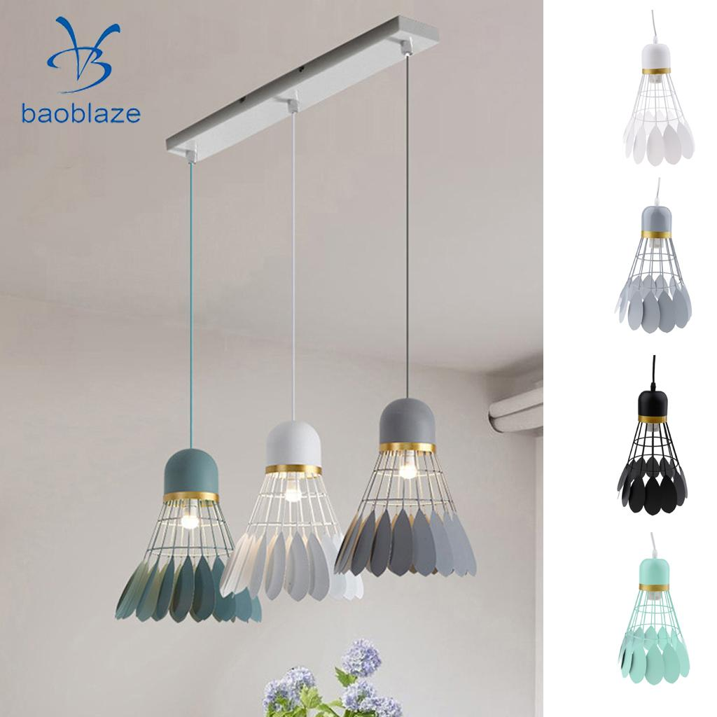 Chandelier Modern Novelty Badminton Hanging Iron Lamp Shade Children s Room Ceiling Lamp Interior Lighting
