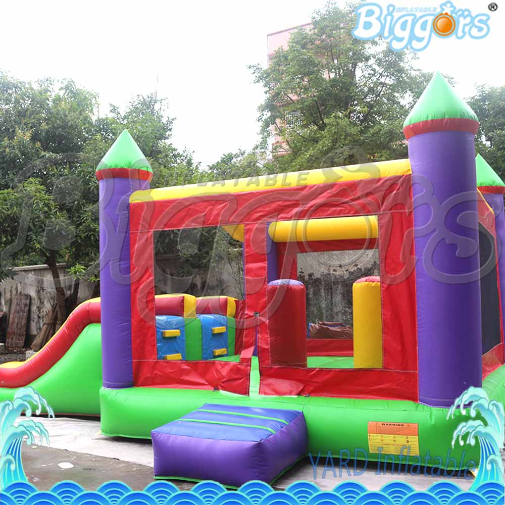 Factory Price PVC Inflatable Jumping Bounce House Castle with Double Slides Commercial Use small size inflatable bounce house jumping bouncy castle for commercial use
