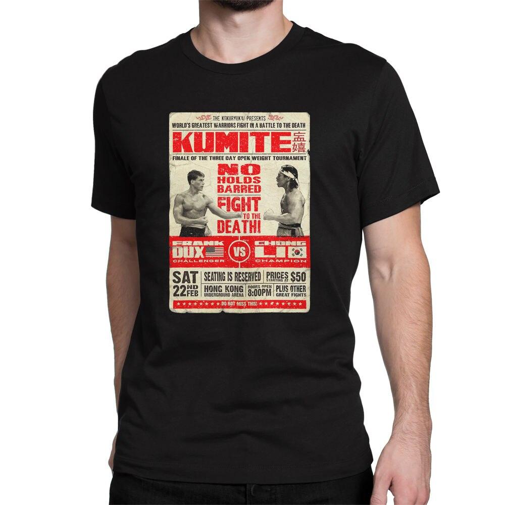 T shirt design hong kong - Loose Black Men Tshirts Homme Tees Bloodsport Kumite Custom Design Men S Graphic Cotton T Shirt