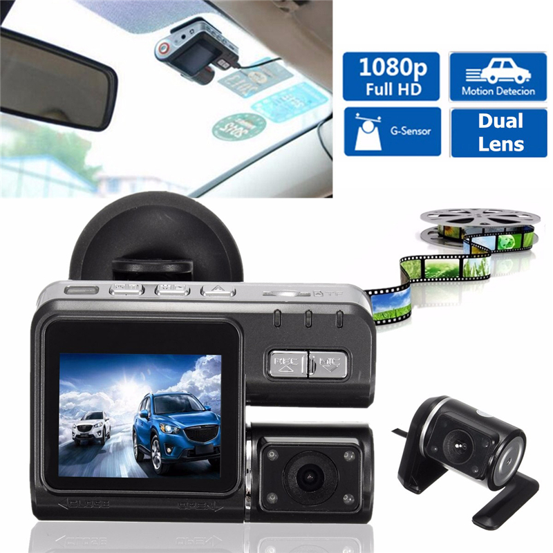 Rear-Car-Dvr Auto-Recorder G-Sensor Dual-Lens Night-Vision Wide-Angle 360-Degree 1080P