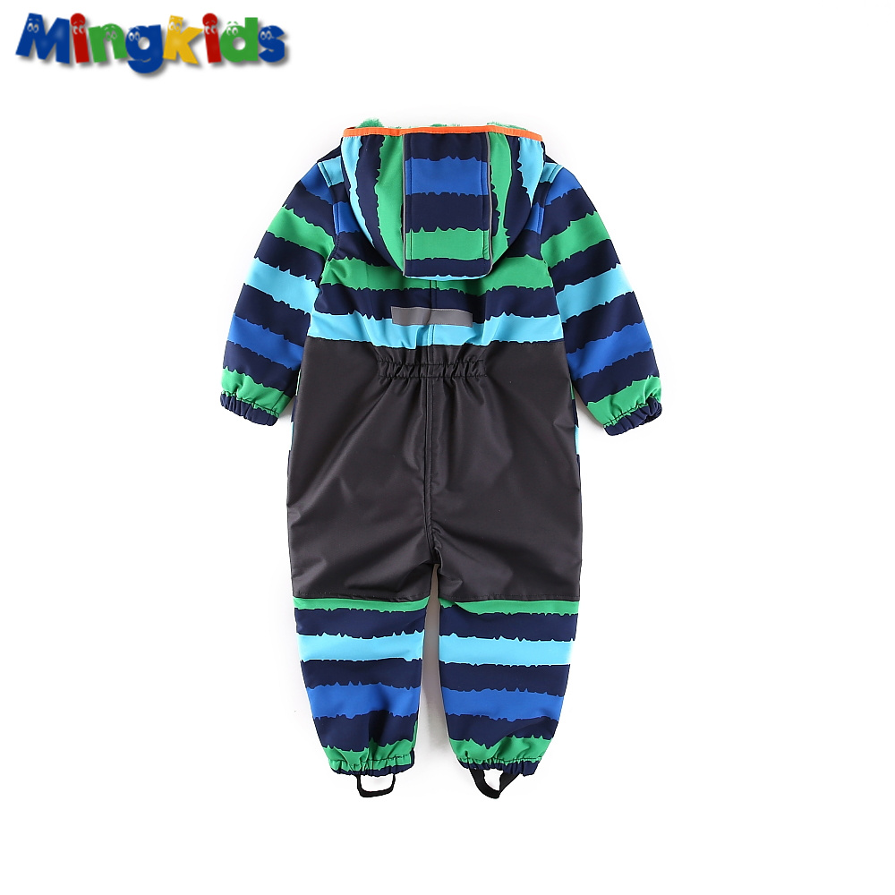 Image 5 - UmkaUmka Boy softshell romper water repellent and windproof to mid season hooded zipper baby clothes best sell-in Rompers from Mother & Kids