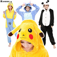 Pokemon Pikachu Onesie Flannel Cartoon Sleepwear Adult Onesies Pyjamas Women Unisex Cosplay Kigurumi Pajamas Anime Costume