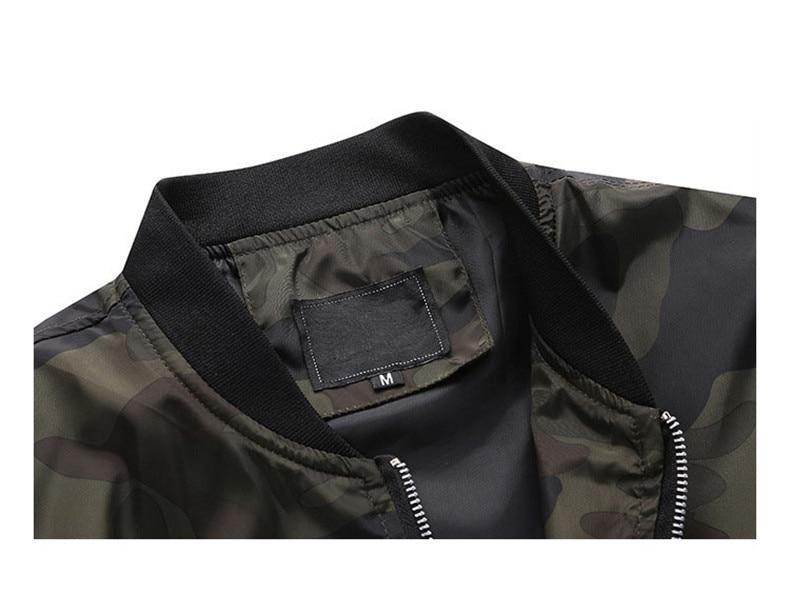 7XL Jackets Men 2019 Camouflage Jacket Male Coats Camo Bomber Mens Jacket Brand Cloth Outwear Baseball Collar Plus Size 5XL 6XL 12