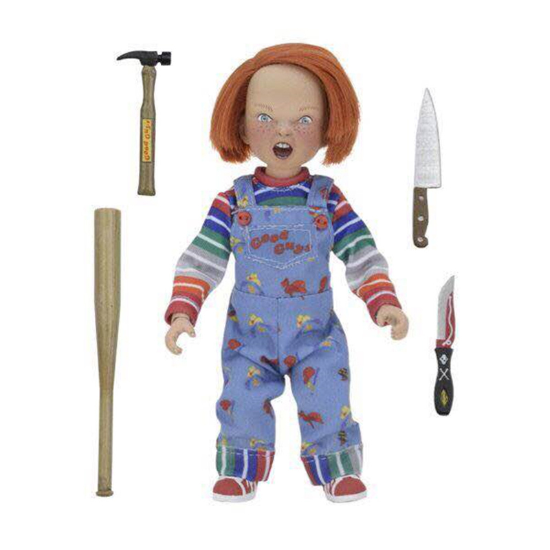 NECA Good Guys Child's Play Chucky Real Clothes Version PVC Action Figurs Doll Toy Brinquedos elsadou neca chucky action figurs child s play doll with retail box 15cm
