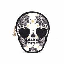2017 de Las Mujeres Del Cráneo Negro de Hombro Messenger Bag Bolso mujeres de los bolsos de las mujeres famosas marcas de lujo diseñador #751323
