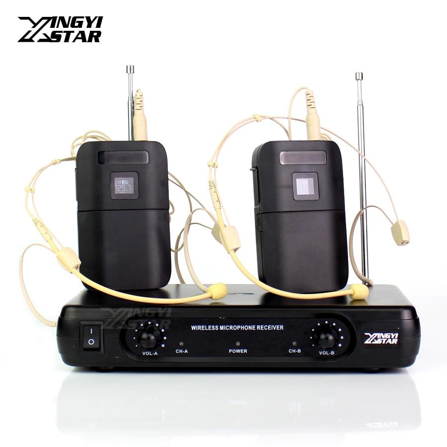 Professionnel Sans Fil Serre-Tête Microphone Casque Micro Sans Fil Récepteur BLX1 Émetteur Pour Kaeaoke DJ Mélangeur Audio PC Amplificateur