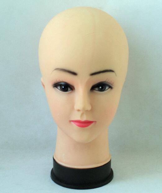 1 pcs New Feminino Manequim Cabeça Treinamento Manequim Silicone PVC Modelo peruca cabelo Óculos Hat Exibição Compõem Rosto Olho Fechado prática