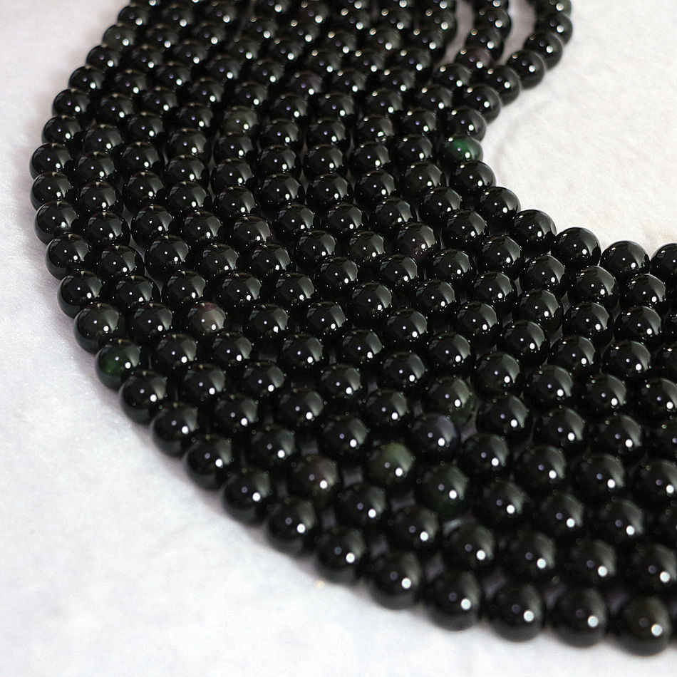 10mm round beads black Obsidian stone hot sale fashion diy charms jewelry 15inch