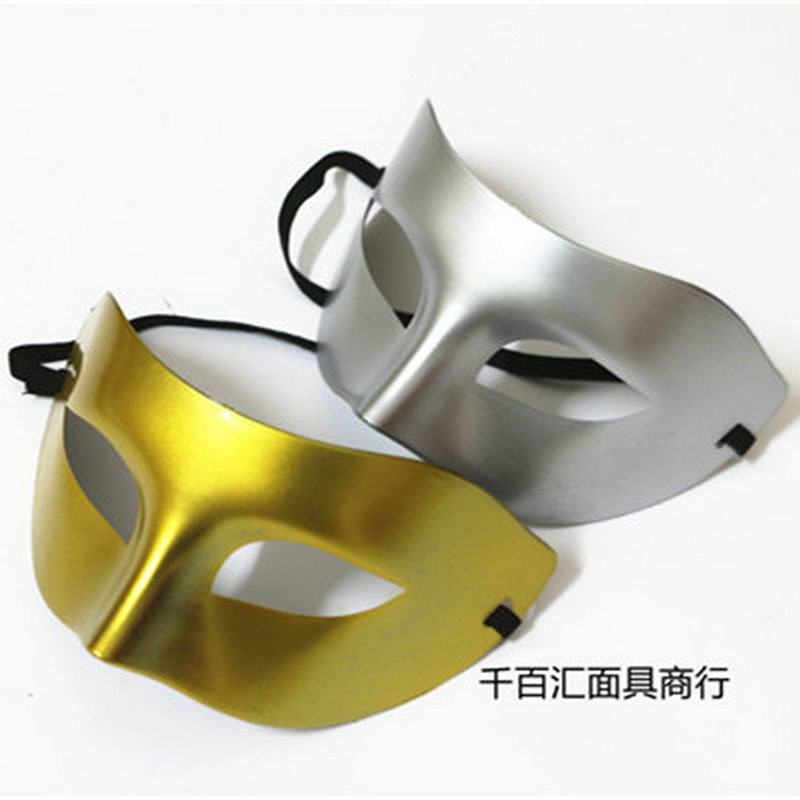 Mask Men Pingtou Zorro Half Face Men and Women\`s Dance Show Eyeshade Gold and Silver Jazz Halloween mask