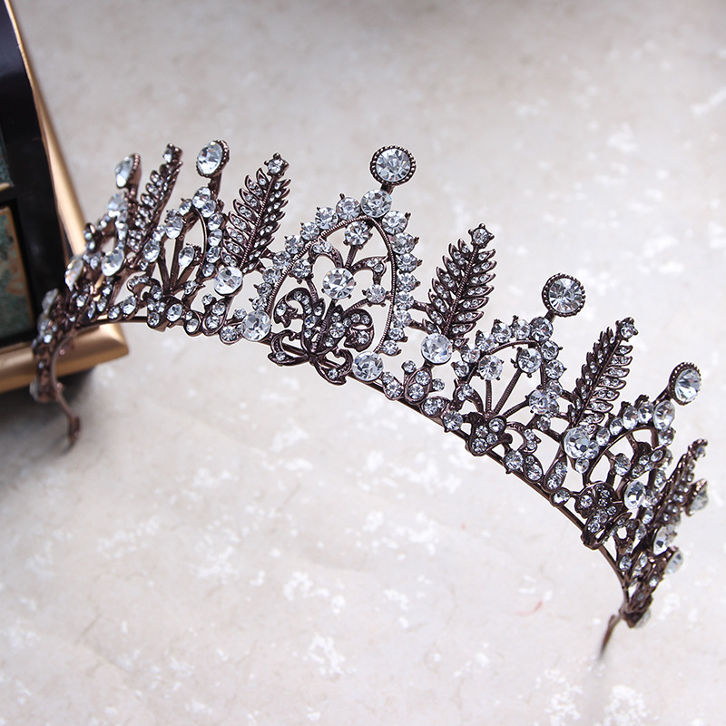 تيجان ملكية  امبراطورية فاخرة Vintage-font-b-Black-b-font-Leaf-Wedding-Prom-Tiara-font-b-Crown-b-font-Baroque