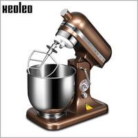 XEOLEO 8 скорость Электрический Еда миксер 7L венчик блендера торт/Тесто/хлеб смеситель коммерческих Нержавеющаясталь машины 500 W/380 W