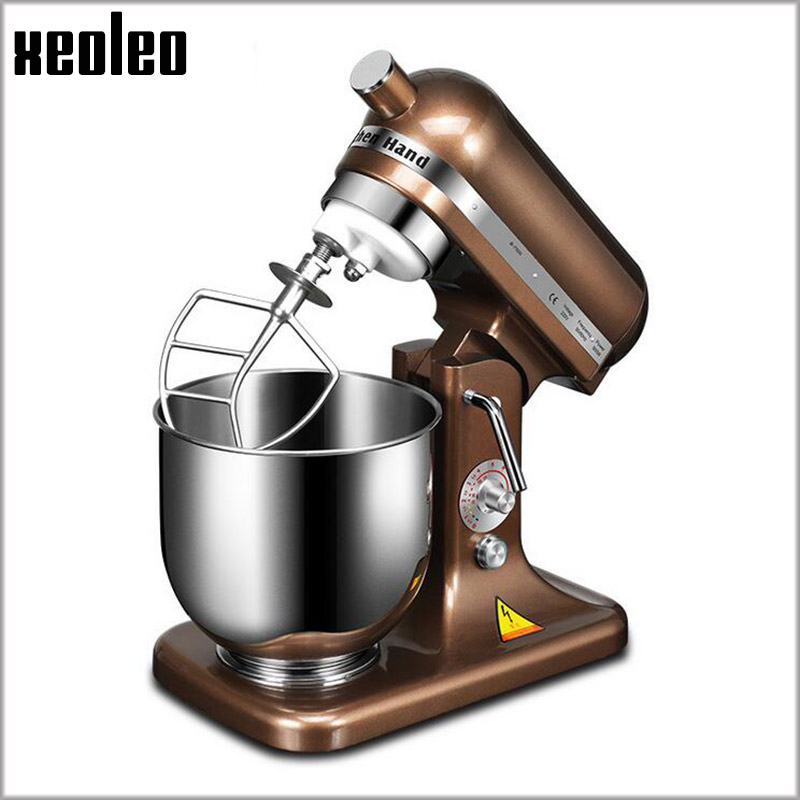 XEOLEO 8-speed Electric Food Stand Mixer 7L Whisk Blender Cake/Dough/Bread Mixer Commercial Stainless Steel Machine 500W/380W