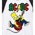 bart loves rock guitar jump guns and roses acdc aerosmith limpbizkit likin park bon jovi metal cartoon fashion t shirt