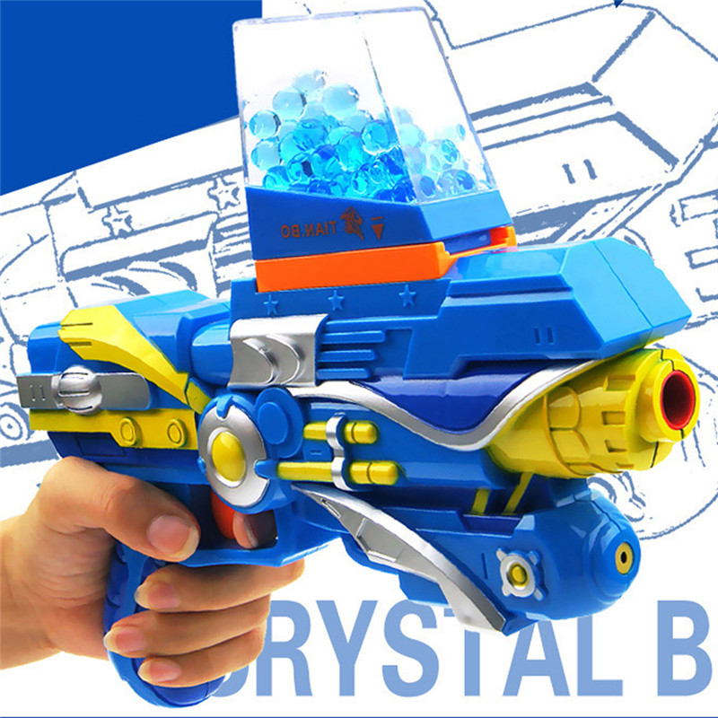 Paintball Gun Tender Bullet Gun Toys Infrared CS Recreation Crystal Water Bullet Gun 2-in-1 Pistol Tender Air Gun with 1500computer Bullets