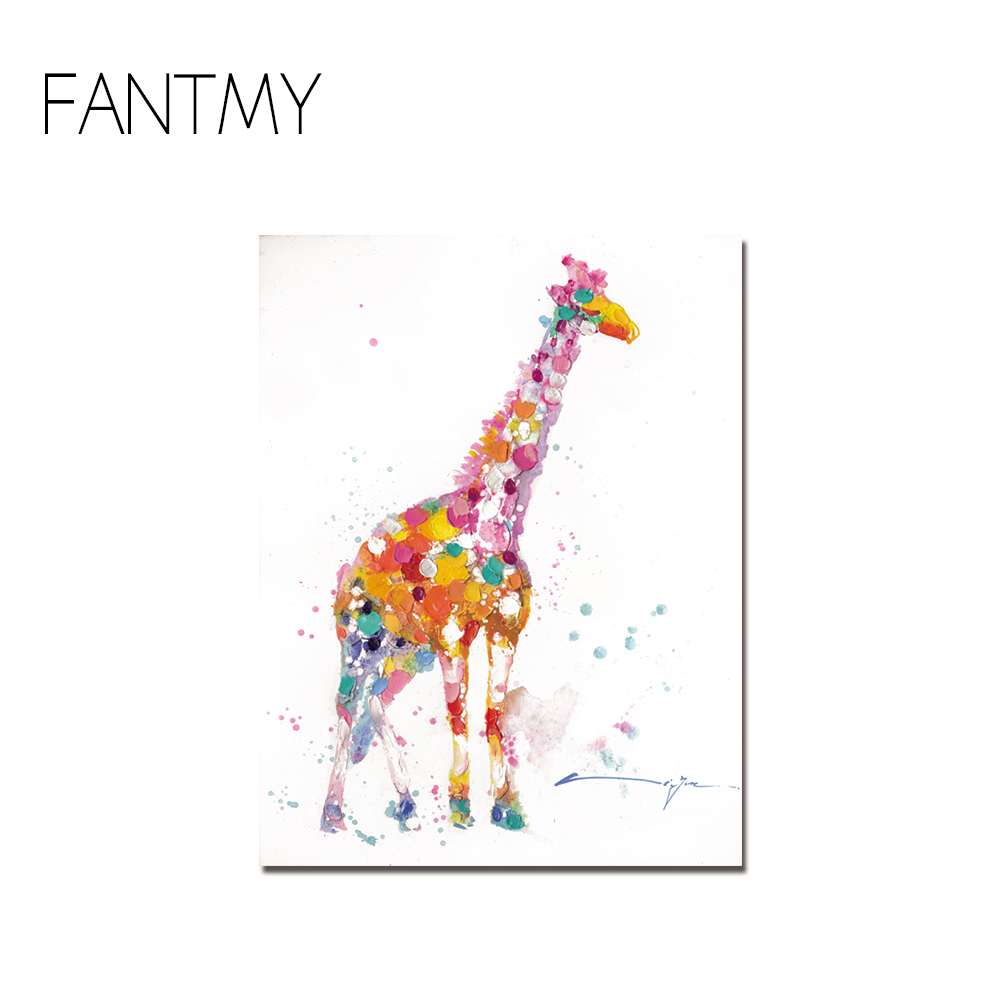 FANTMY Leinwand Wandkunst Moderne Tier Leinwand Malerei Zebra ...