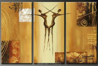 Hand Painted Modern Abstract Oil Painting Large Sexy Girl 3 Panel Art Canvas Home Decoration For