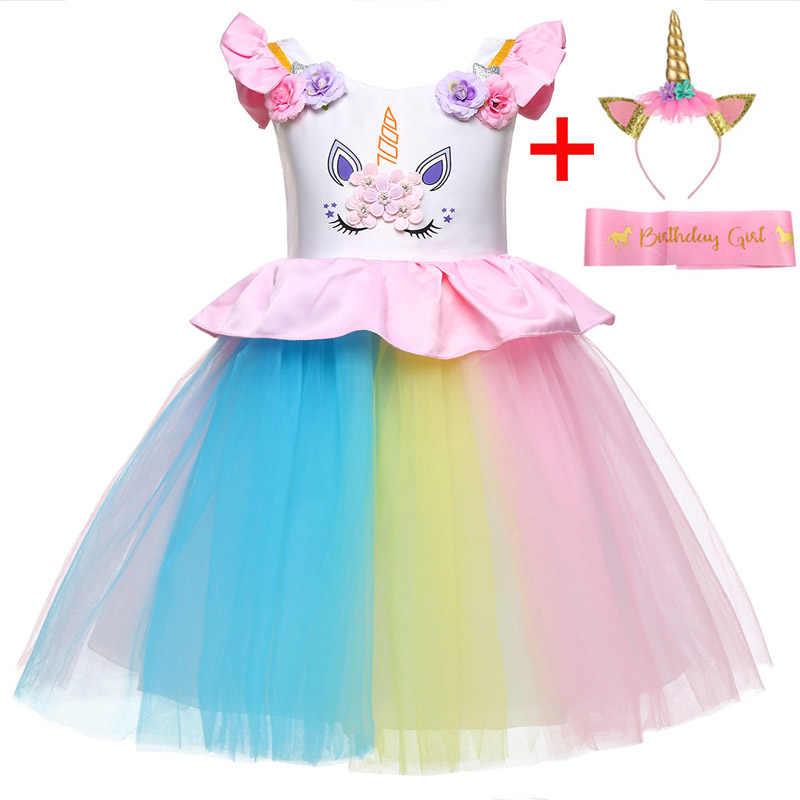 d5c72c275b52b Newborn Baby Girls Dress Summer Infant Unicorn Party Dress 1 Year Birthday  Dress For Baby Girls Princess Dress vestidos infantil
