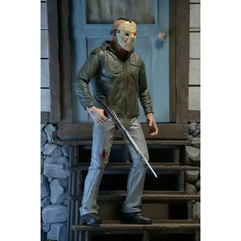 NECA 3D Friday The 13th Part 3 The Final Chapter Jason Voorhees PVC Action Figure Model Doll 18cm (10)