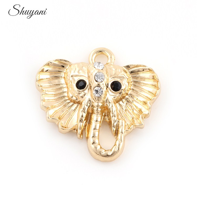 23mm Silver Yellow Plated Butterfly Charm