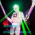 LED robot Costume / LED Clothing / Light suits / LED Robot suits /  david robot / custom white, golden robot
