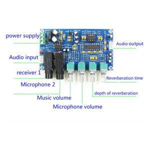 Image 5 - AIYIMA PT2399 mikrofon cyfrowy płyta wzmacniacza Karaoke płyta pogłosowa Karaoke OK moduł wzmacniacza Dual AC12V