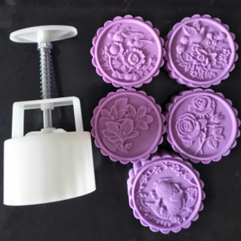 100 Gramm Fisch Osmanthus Rose Blume Mond Kuchen Form Hand Drucken
