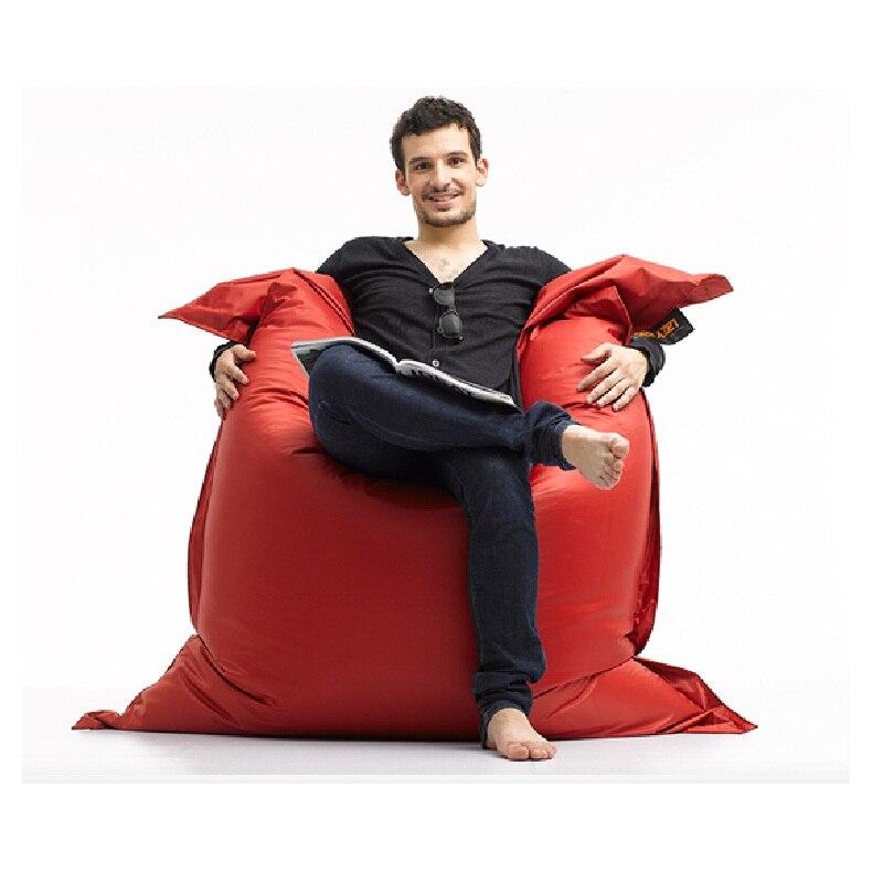 2018 nouveau sac de haricot dans le salon de luxe siège magique zac Shell confort pouf couverture de lit sans remplissage mobilier d'extérieur canapé